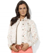 Floral denim jacket by Ralph Lauren at Macys