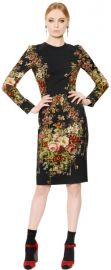 Floral dress by Dolce and Gabbana at Luisaviaroma