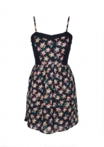 Floral dress with crochet inset at Delias