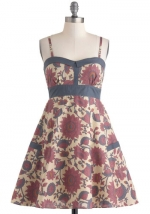 Floral dress with trim at Modcloth at Modcloth