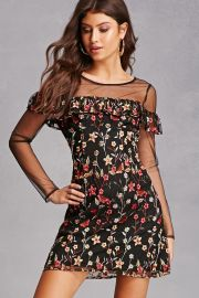 Floral embroidered dress at Forever 21
