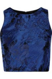 Floral-embroidered jacquard top at The Outnet