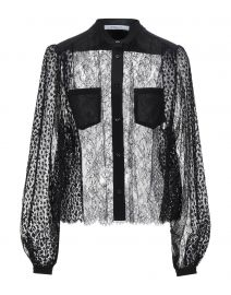 Floral-embroidered lace blouse by Givenchy at Yoox