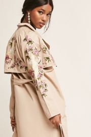 Floral embroidered trench at Forever 21