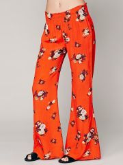 Floral hippie pants at Free People