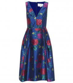 Floral jacquard dress at Mytheresa