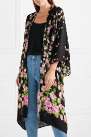 Floral-jacquard robe by Gucci at Net A Porter