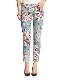 Floral jeans by 7 for all Mankind at Saks Off 5th