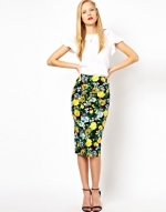Floral pencil skirt like Zoes at Asos