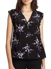 Floral print blouse by Rebecca Taylor at Saks Off 5th