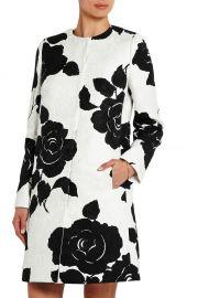Floral-print cotton-blend jacquard coat at Net A Porter