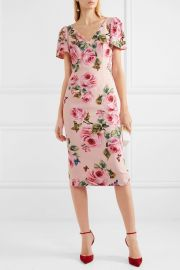 Floral-print crepe midi dress at Net A Porter