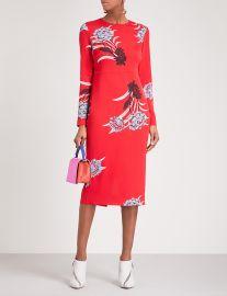 Floral-print crepe midi dress by Diane Von Furstenberg at Selfridges