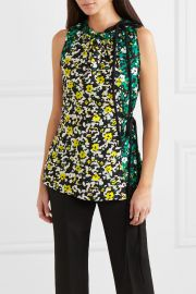 Floral-print crepe top at Net A Porter