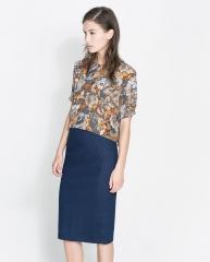 Floral print crop top at Zara