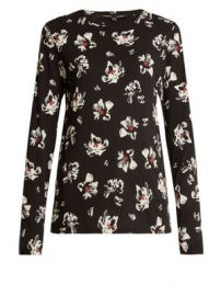 Floral-print long-sleeved cotton-jersey top at Matches