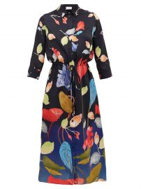 Floral-print satin-faille shirtdress at Matches