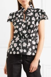 Floral-print satin top by Balenciaga at Net A Porter