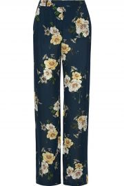 Floral-print silk-chiffon wide-leg pants at The Outnet