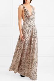 Floral-print silk crepe de chine gown at Net A Porter