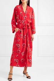 Floral-print silk crepe de chine wrap maxi dress by Bernadette at Net A Porter