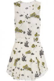 Floral-print silk-crepe mini dress at The Outnet