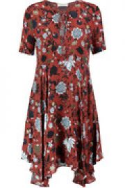 Floral-print silk mini dress at The Outnet