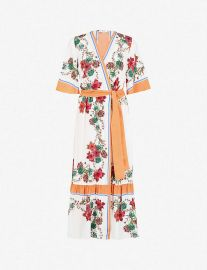 Floral-print silk wrap dress by Sandro at Selfridges
