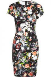 Floral-print stretch-cotton dress at The Outnet