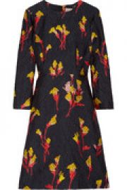 Floral-printed jacquard mini dress at The Outnet