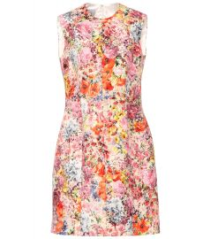 Floral-printed silk-blend dress at Mytheresa