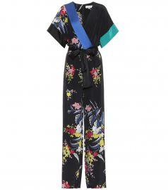 Floral-printed silk jumpsuit at Mytheresa