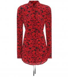 Floral-printed silk top by Saint Laurent at Mytheresa