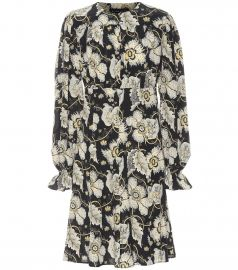 Floral silk minidress at Mytheresa