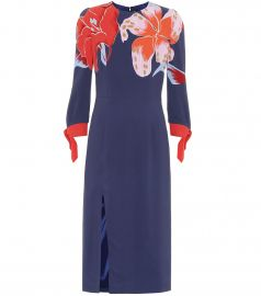 Floral stretch-cr  pe dress at Mytheresa
