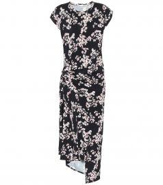 Floral stretch-jersey midi dress at Mytheresa