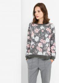 Floral sweatshirt at Mango