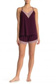 Floretta Lace Trim Knit Camisole & Shorts Pajama Set by Flora Nikrooz at Nordstrom Rack