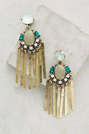 Florian Fringe Earrings at Anthropologie