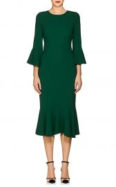 Flounce-Hem Stretch-Cady Dress at Barneys