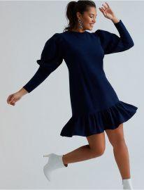 Flounce Hem Sweatshirt Dress at Eloquii
