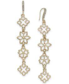 Flower Linear Drop Earrings by INC at Macys