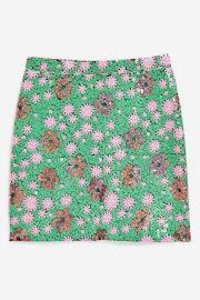 Flower Sequin Mini Skirt at Topshop