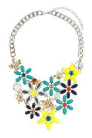 Flower and Bug Necklace at Topshop