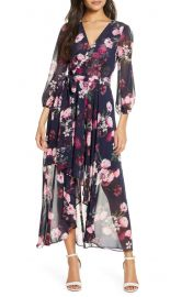 Flower print high low dress at Nordstrom