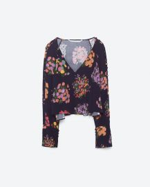 Flowing printed top at Zara