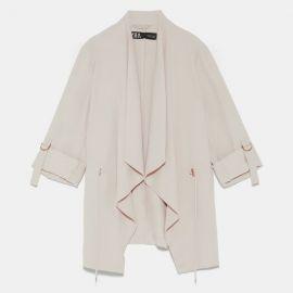Flowy Drawstring Jacket at Zara