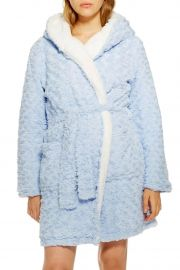 Fluffy Faux Fur Hooded Robe at Nordstrom Rack