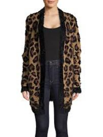 Fluffy Leopard Print Cardigan at Lord & Taylor