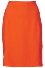 Fluro crepe skirt at Topshop